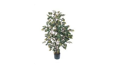 Nearly Natural 4' Ficus Silk Tree Green-5074 ea26e88f-c620-4a16-ab33-3bf1c0a2d379