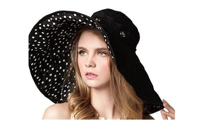 Womens Summer crushable Sun hat Foldable