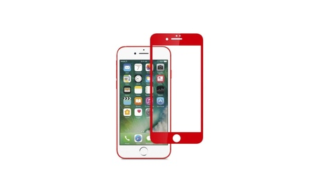For iPhone 7 Plus Chinese red soft edge full covered tempered glass 44d30236-f4dc-4125-9959-00ff7b5ed377