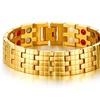 Gold-color Magnetic Health Care Bracelet For Men