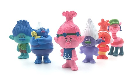 6Pcs Troll Action Figures Toy Cute Trolls Doll Model Set Anime PVC Toy Kid's Gift a826fa92-7736-4c80-9bcf-c975dfa6432a