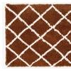 Soft and Cozy Trellis Shag Area Rugs  (3' x 5')