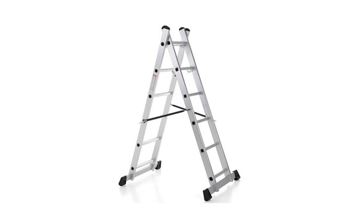 IKAYAA 4 in 1 DIY Step Ladder Scaffolding