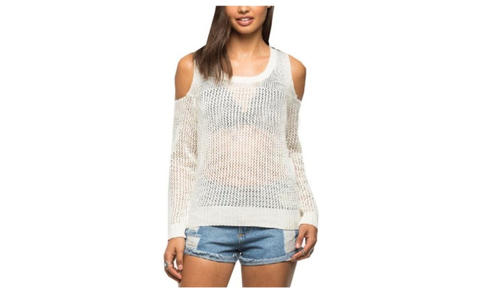 Women's/Ladies Long Sleeve Casual Solid Pullovers Sweater