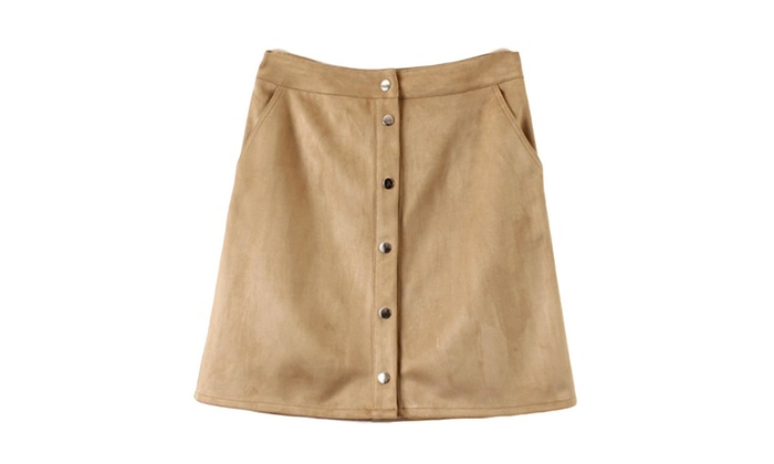 Women's Solid Casual Slim Fit A-Line Casual Skirts