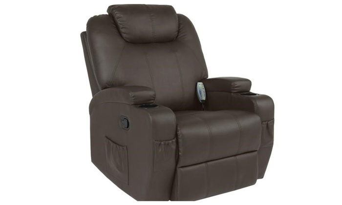 Massage Recliner Sofa Chair Heated W/Control Ergonomic Executive Couch