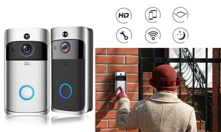 WiFi Smart Video Doorbell Smart Home  IR Visual Camera Night Vision Two-Way Talk