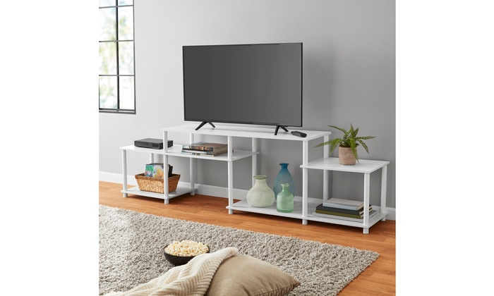 Red Mainstays No Tools 3-Cube Storage Entertainment Center for TVs up to 40