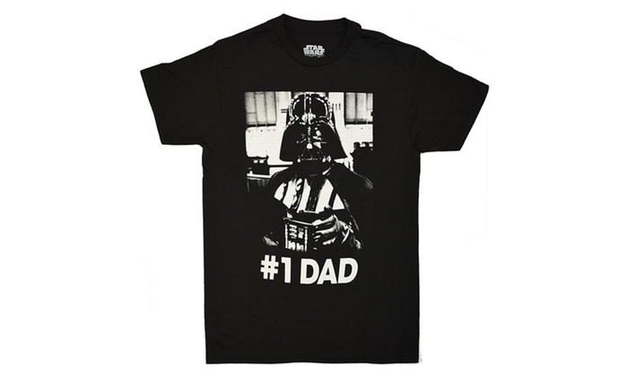 f75179cf4 Star Wars Darth Vader Number One Dad T-shirt | Groupon