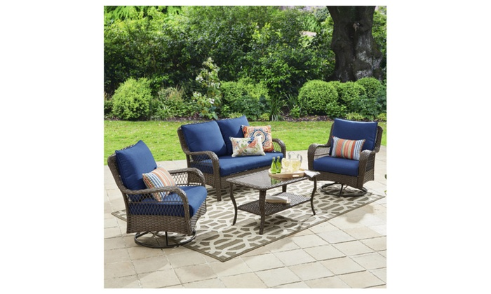 d02a2de7da85 Better Homes and Gardens Colebrook 4 Piece Outdoor Conversation Set ...