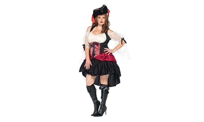 Leg Avenue Womens Plus Size Pirate Outfit Fancy Dress Sexy Costume