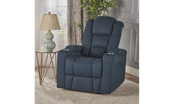 Everette Tufted Power Recliner With Arm Storage And USB Cord ...