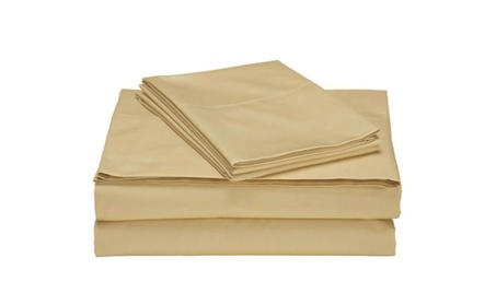 Comfort 1800 Count 4 Piece Deep Pocket Bed Sheet Set Gold Gray Copper 806b86eb-6152-48b3-aacc-a2fab8315539