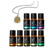 ArtNaturals Essential Oils (8-Piece) with Aromatherapy Necklace