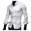 Men's Buttons Up Fashion Simple Solid Short Sleeve Shirt