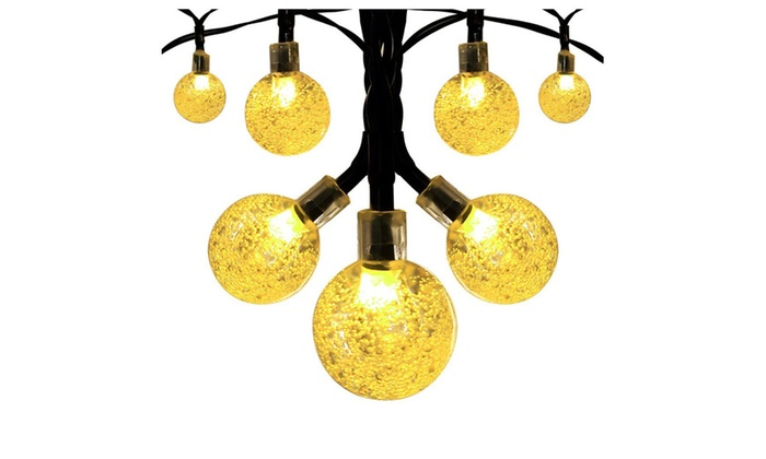 Innoo Tech Solar Globe String Lights Outdoor 19.7 ft 30 LED Warm White