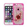 Insten Bloom Flower 3D Bling Diamante Case For Iphone 6 6s Plus Pink