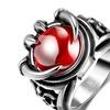 316L Titanium Ruby Men's Ring