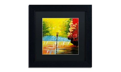 Ricardo Tapia 'Rainy Day' Matted Black Framed Art d27853ce-3b14-4672-9172-a3ba3868cf2f