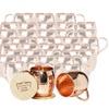 Set of 40 Moscow Mule Barrel Mugs (Copper Handle)