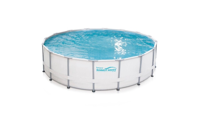 Metal Frame Above Ground Swimming Pool | Groupon