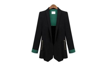Women Blazers Long Sleeve Blazer Slim Thin Jacket a325ce98-9a56-4eb3-94b1-a882a5257c65
