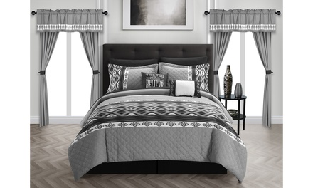 Chic Home Severn Complete Bedroom-in-a-Bag Comforter Set (20-Piece)
