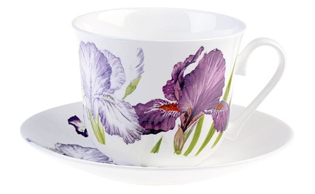 Roy Kirkham Breakfast Cup/saucer - Iris Set Of 2 a7699359-0a36-4913-91c7-6f231b2cce64