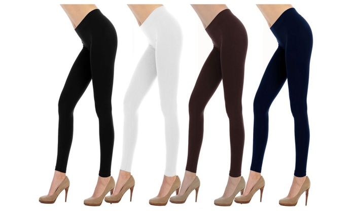 Slimming Super Stretch Seamless Leggings 4-Pack (5006)
