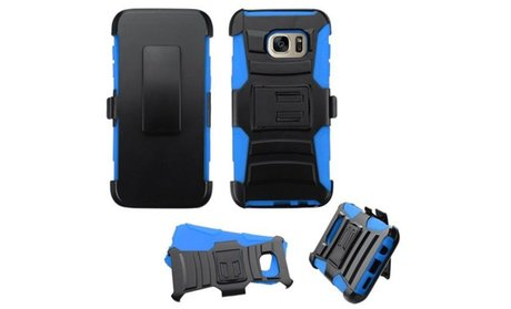 Insten Hard Dual Layer Silicone Case with Holster For Samsung...