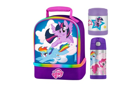 Thermos Funtainer My Little Pony Lunch Bag Kit w/12oz Bottle+Food Jar 192db603-35f3-4948-872f-196d3a818c92