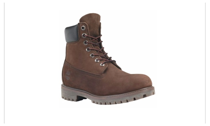f2696537091b Timberland Men's 6-Inch Premium Waterproof Boots Dark Brown Nubuck ...