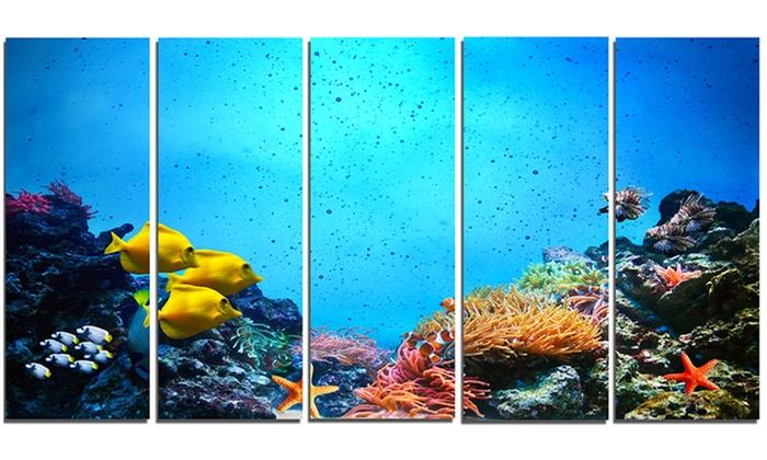 Underwater Scene Seascape Photography Metal Wall Art 60x28