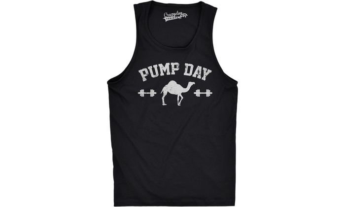 09fc3e96 Mens Pump Day Funny Camel Hump Day Workout Sleeveless Fitness Tank Top |  Groupon