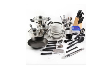 Home Essential Total Kitchen 83-Piece Combo Set Dinnerware photo