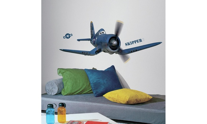 Roommates Disney Planes Skipper Giant Wall Decal | Groupon