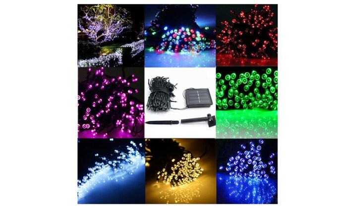 LED String Solar Light Waterproof Garden Xmas Wedding Party Fairy Lamp