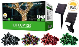LITEUP125 Solar String Lights (1-, 2-, or 4-Pack)
