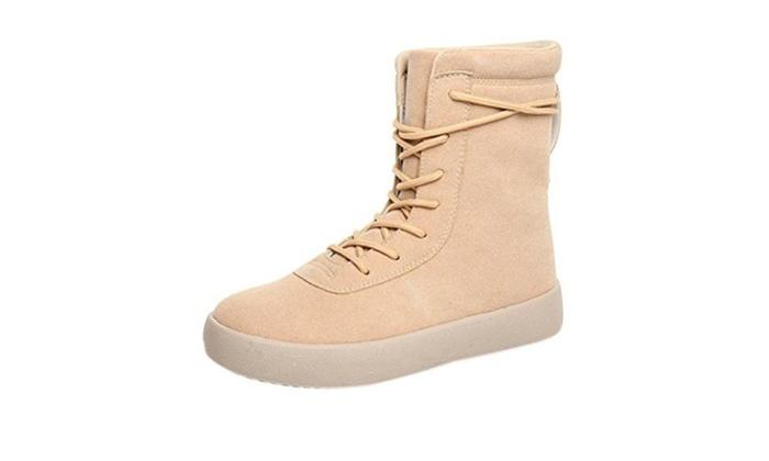 Men's Fashion Suede Vamper Shoelaces Warm Snow Boots