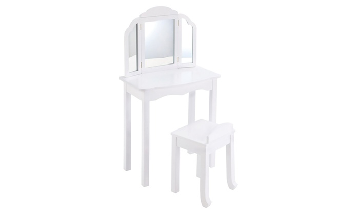 Guidecraft G87104 Expressions Vanity And Stool White