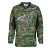 Reebok Detroit Red Wings Practice V-Neck Army Jersey - Digital Camo