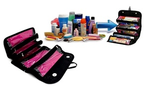 Roll 'n' Go Travel Jewelry And Cosmetics Organizer Bag