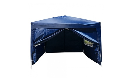 Two Doors & Two Windows Canopy Party Folding Tent With Sides 34a4fd11-7ee0-4370-a6fa-e55e0c0ffe28