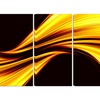 Mellow Yellow Harmony - Large Modern Canvas Art - 48x28 - 4 Panel
