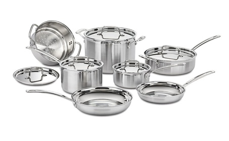 Cuisinart Multiclad Pro Triple Ply Stainless Steel 12-Pc. Set 508f40b3-0b9c-4237-bb45-df82c0cdf0a9