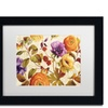 Lisa Audit 'End of Summer I' Matted Black Framed Art