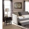 Parkson Curved Notched Twin Daybed with Roll-Out Trundle Guest Bed