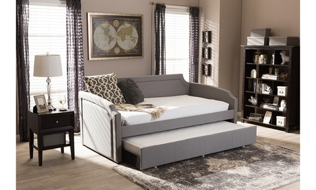 Parkson Curved Notched Twin Daybed with Roll-Out Trundle Guest Bed 1a27cbd5-1a66-4bbd-a857-98e05fde09de