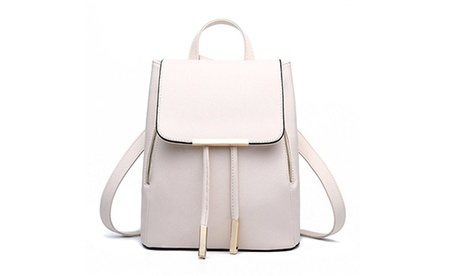 Casual Purse Fashion School Leather Backpack Shoulder Bag (Goods Women's Fashion Accessories Handbags Satchels) photo