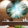 Light From Sky' Abstract Circle Metal Wall Art